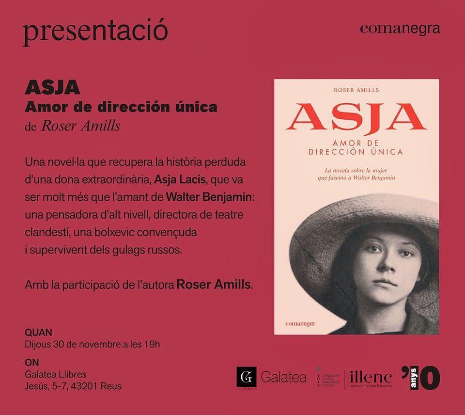 Avui a les 19h presento #Asja (@Comanegra) a la #Galatea de #Reus @galateallibres No us ho podeu perdre! Us esperem!