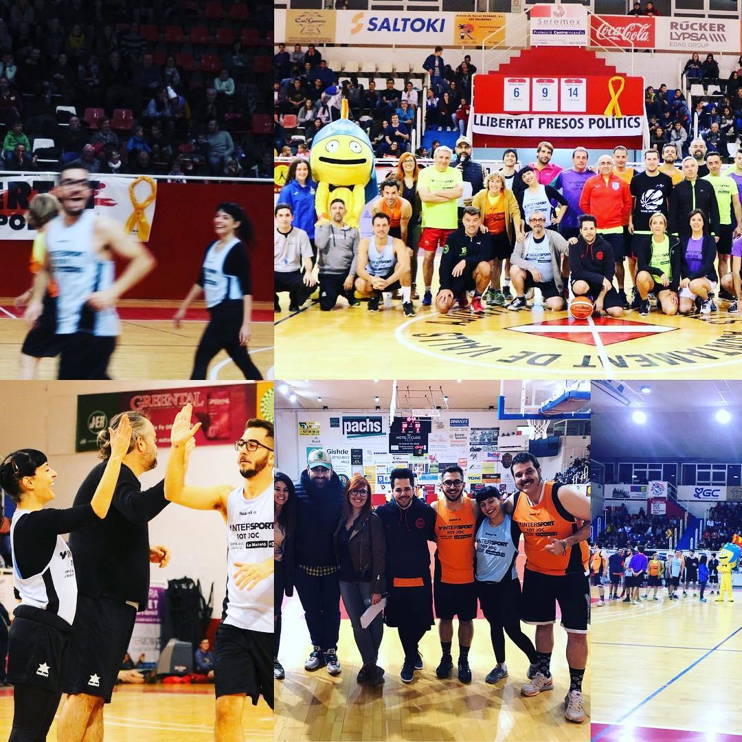 Quin plaer col.laborar ⭐amb el @CBValls i @lamaratotv3 a l'encistellada dels famosos!! #bàsquet 🏀🏀 #Valls #maratocbvalls17 @comanegra