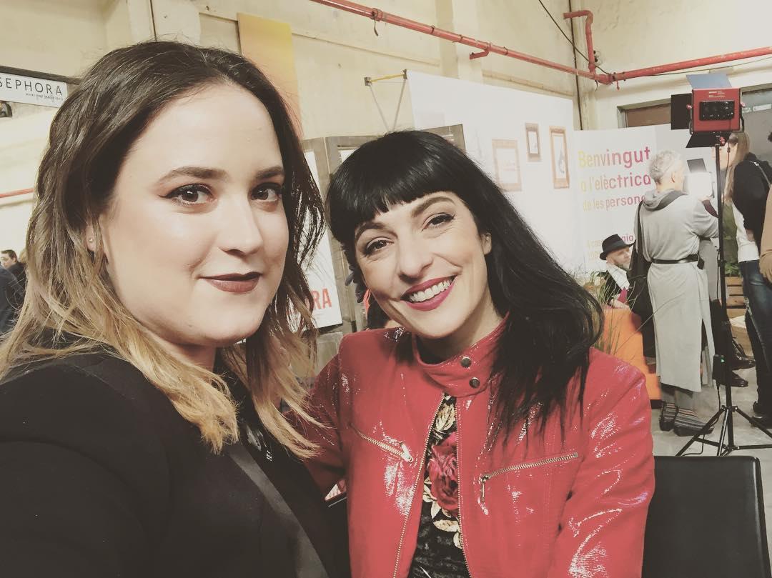 Maquillada por @Giselabosque @Gisela_sephoranma en los #premistimeout2017 ;)) @sephora_spain [foto de @arieinstagram y chaqueta y top de @ottovanrhuskbcn 💕]