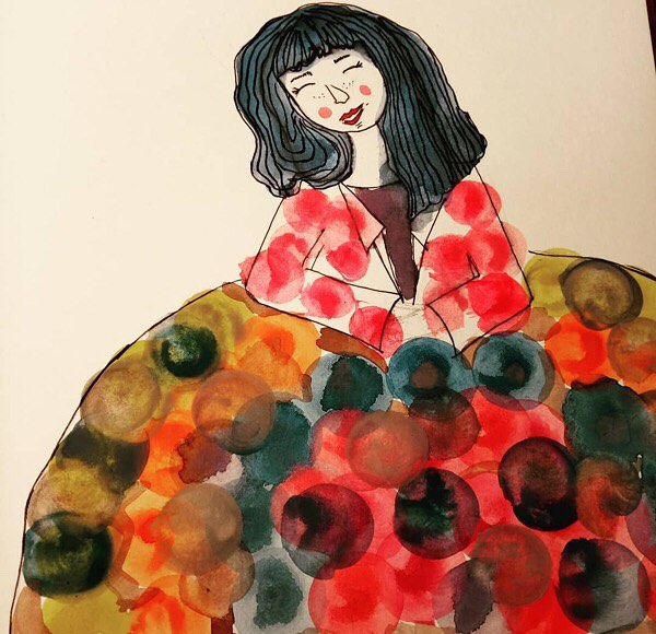 Gàacies, @cocolorete1 !!! 💕 #Repost Moltíssimes felicitats @roseramills , #elscolorsdelamills , això és el que sempre m has evocat, #color, #alegria i molta #diversió. #acuarela #ilustration ELS COLORS DE L'AMILLS