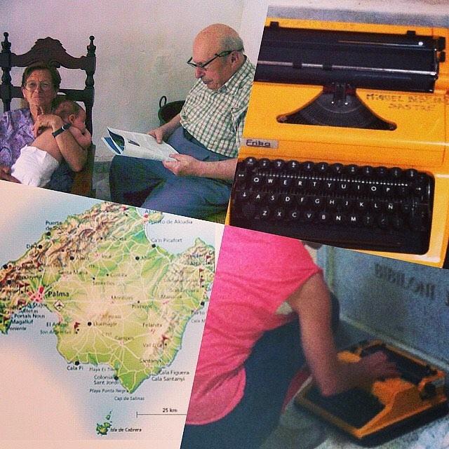 El 2 de febrero se cumplen 10 años de la muerte de mi abuelo Miquel Bibiloni Sastre. Le llevé una máquina de escribir amarilla al cementerio en vez de flores, él escribía guiones de cine… Por él escribo 💕