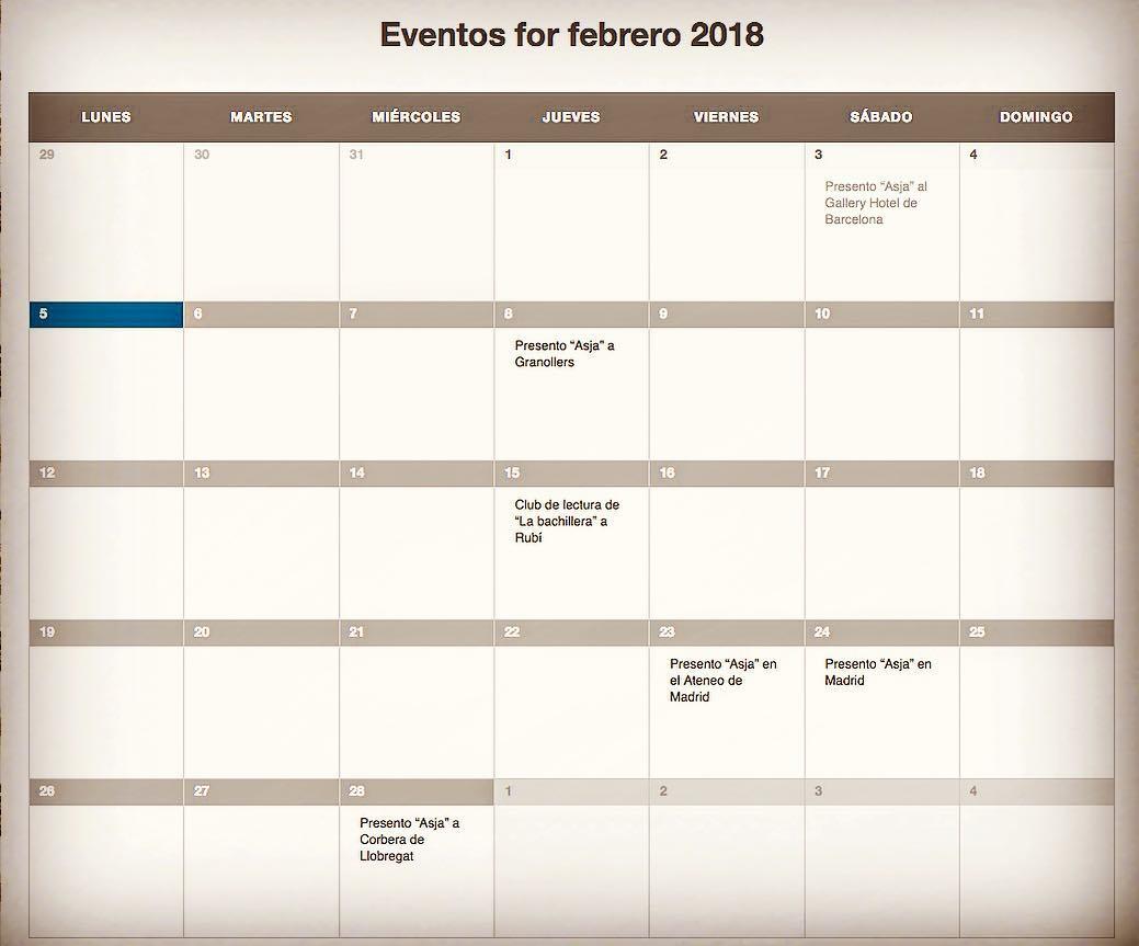 Feliz lunes con nuestras citas para este mes de febrero en Granollers, Rubí, Madrid y Corbera de Llobregat. Os espero!