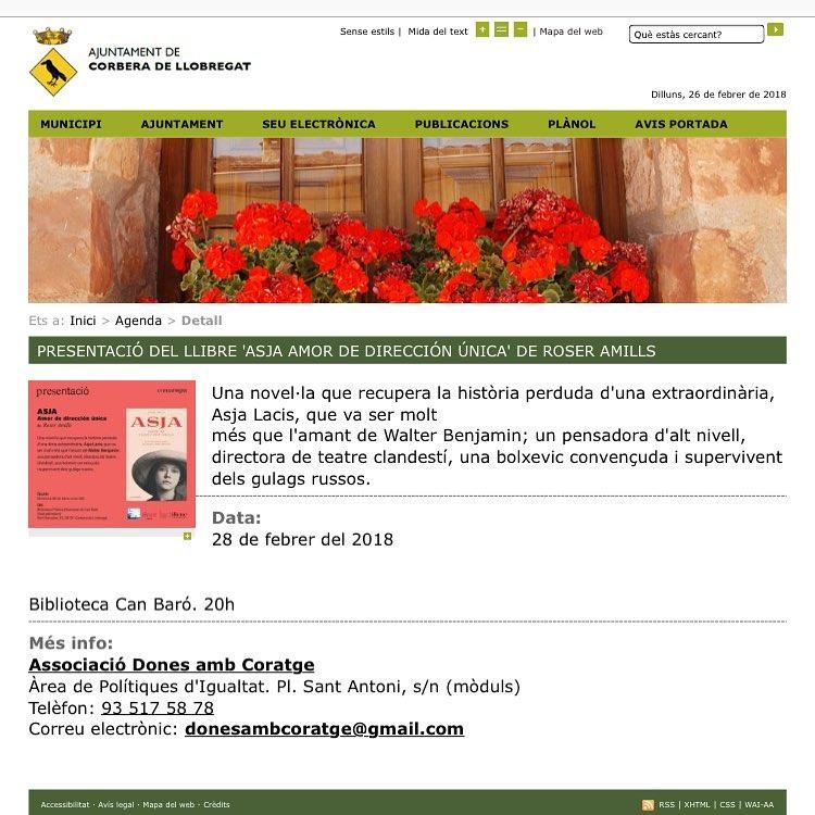 Dimecres seré a #corberadelllobregat a la Biblioteca Can Baró @ajuntamentdecorbera :))