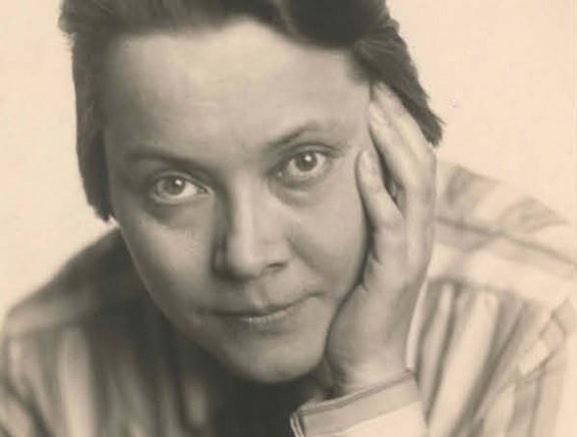 Retrato de Asja Lacis. Berlín, 1955, directora de teatro letona
