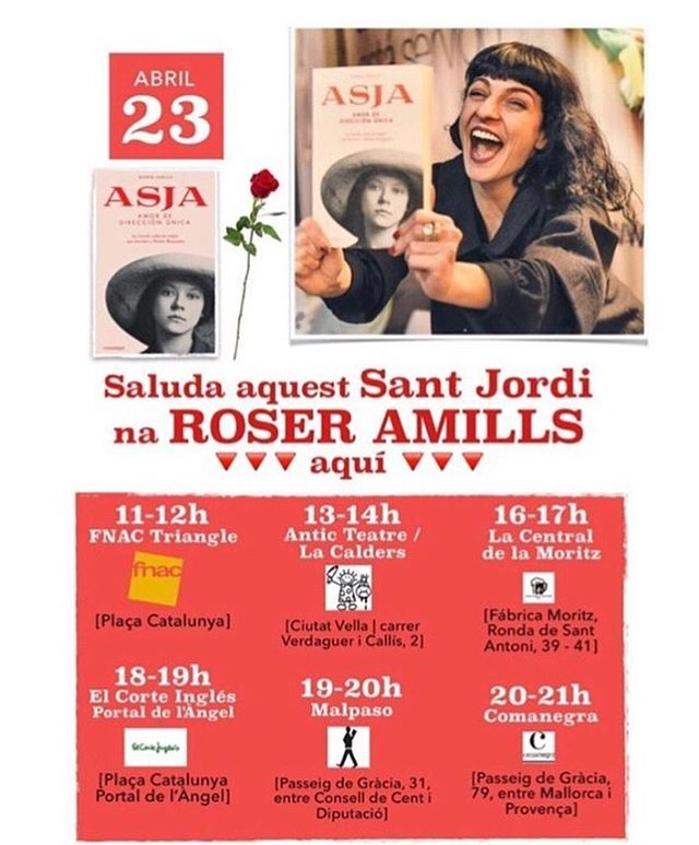 Roser Amills firmas de Sant Jordi 2016