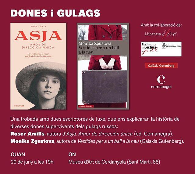 Què en saps de les dones que van patir els #gulags ? Vine a #Cerdanyola i direm les seves històries, el luxe per a mi és compartir-ho amb la #monikazgustova i l'#asjalacis