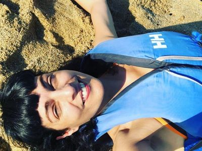 Las olas me han dejado en la orilla :)) con David Gau y Escola de mar de Montgat