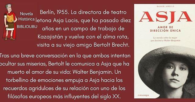 """Si estás en Burgos, mira qué libro recomienda la @bibliotecaubu #DivulgaBiblioUBU   """"Roser Amills recupera en esta #novelahistórica a Asja Lacis, una pensadora y directora de teatro clandestino. Comparte escena con Walter Benjamin y Bertolt Brecht. Una historia por descubrir"""""""