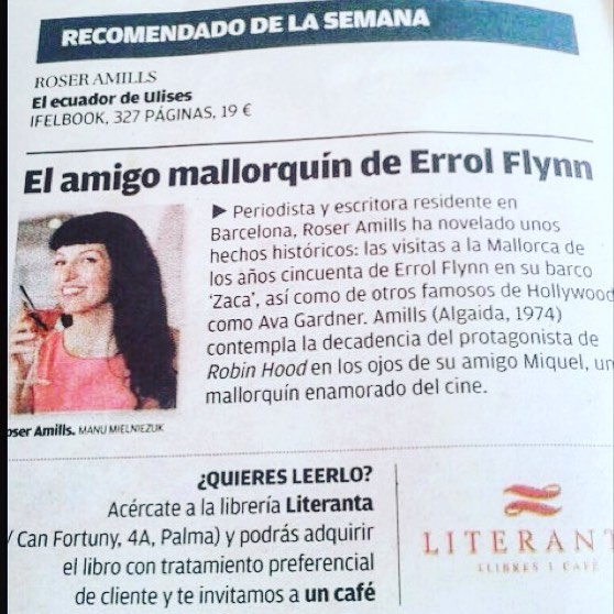 roser amills libro recomendado novela errol flynn