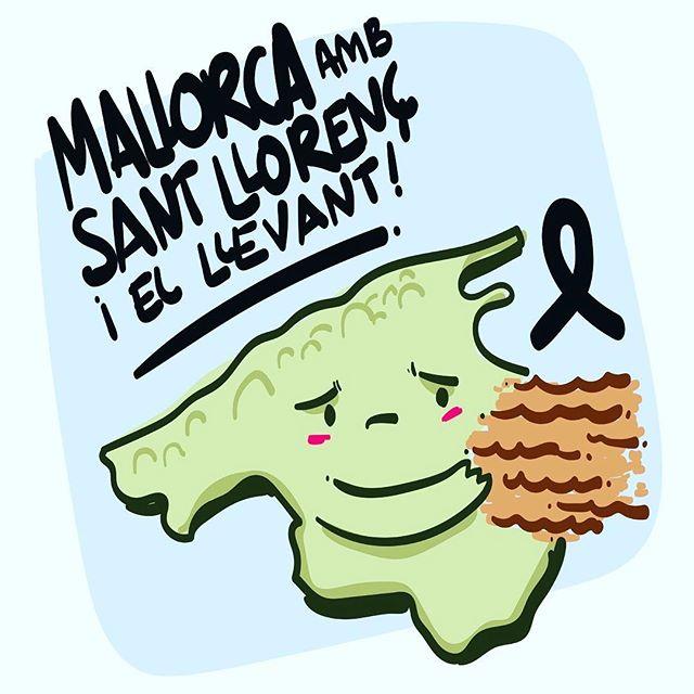 Es meu sentit condol als familiars de les víctimes i veïns de Sant Llorenç, Son Carrió, Artà i s'Illot. Ànims Mallorca! 🖤 Mallorca #SantLlorenç #mallorca #InundacionsMallorca