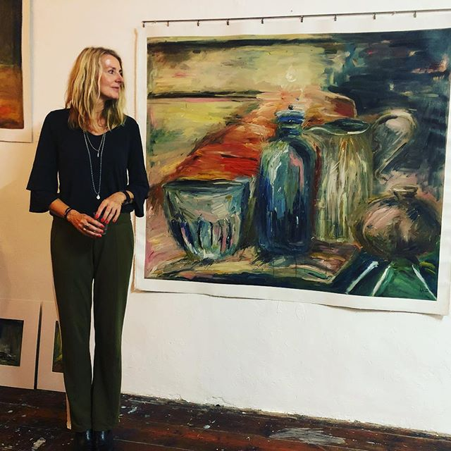 Inauguramos la exposición de Antje Konnopka antje-konnopka.com :)) En el taller de @gregoire.morel