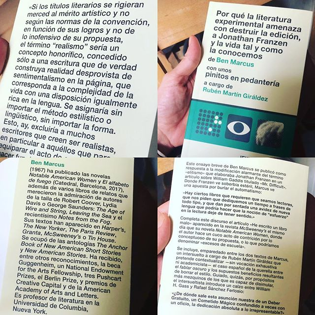Acabo de recibir un libro que me flipa, no estará en librerías hasta el 5 de noviembre. Tomad nota, es de #benmarcus y lo edita @jekyllandjill #Weird, #funny, #disturbing #benmarcus #notableamericanwomen #americanliterature
