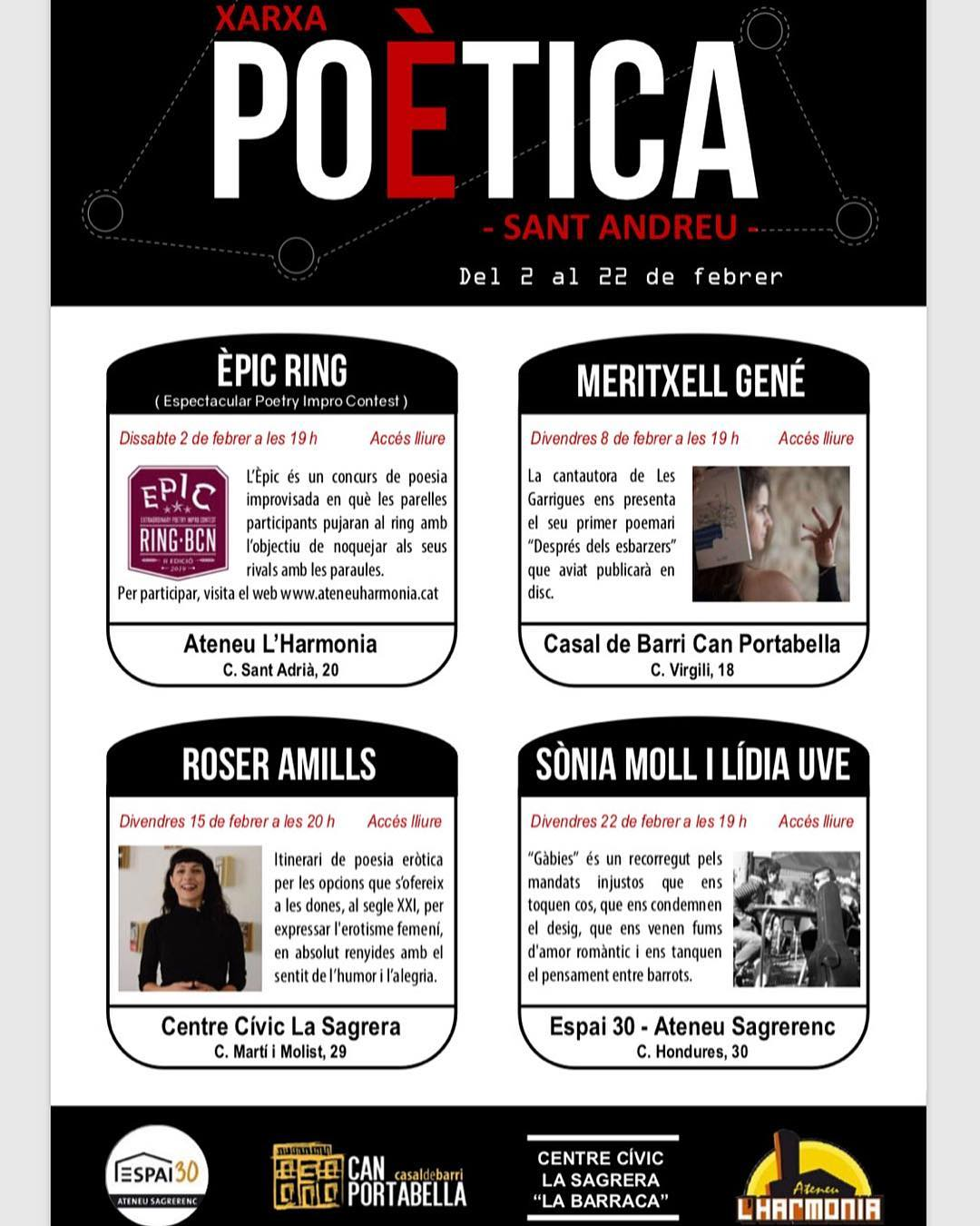 El 15 de febrer tenim #poesia i #erotisme! Ja us hi podeu anar apuntant @cclabarraca