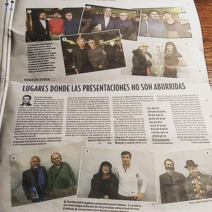 El Mundo   Hoy unos cuantos hemos recibido el título de #noaburridos de Alvaro Colomer y estoy que salto de alegría!!