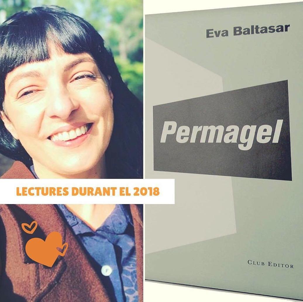 """La @laia_marsal_ferret ens ha preguntat a uns quants la lectura impresionant de 2018: jo he triat """"Permagel"""" de #EvaBaltasar @clubeditor @mariabohigassal"""