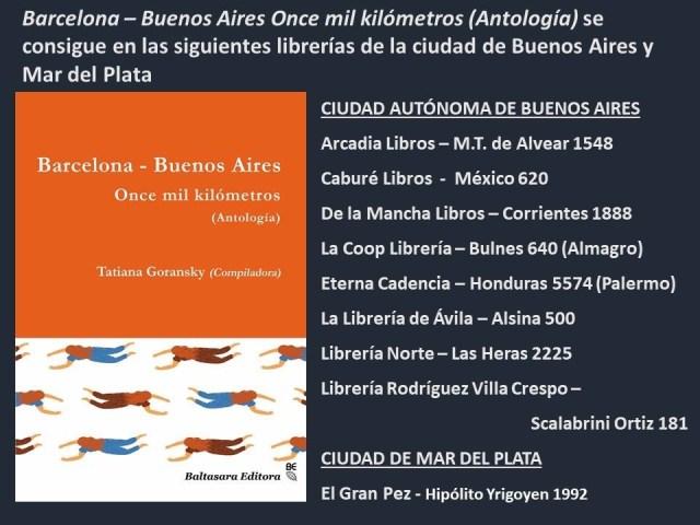 """Formo parte de la antología """"Barcelona -Buenos Aires, 11.000 kilómetros"""" (Baltasara editora)"""