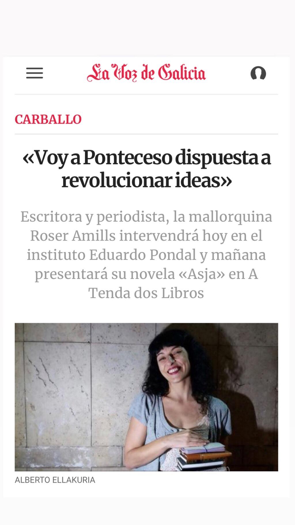 Roser Amills en Ponteceso, #costadamorte Galicia