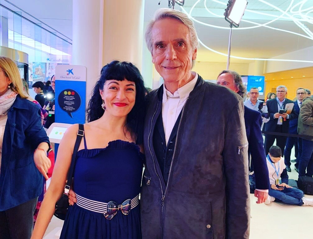 Roser Amills y Jeremy Irons gala premis sant jordi de cinema 2019