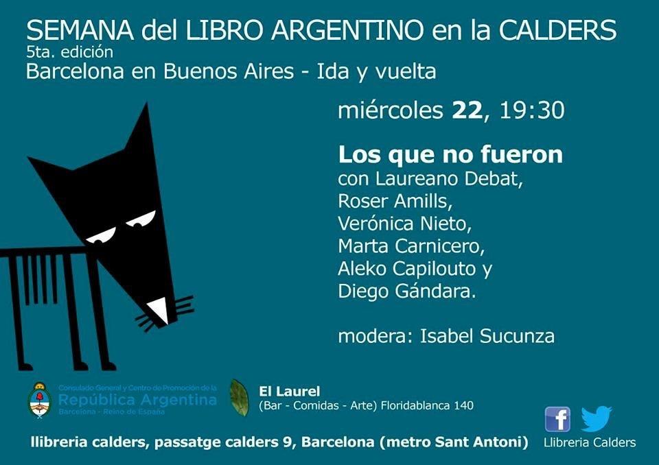Roser Amills, presentación de Barcelona Buenos Aires en La Calders