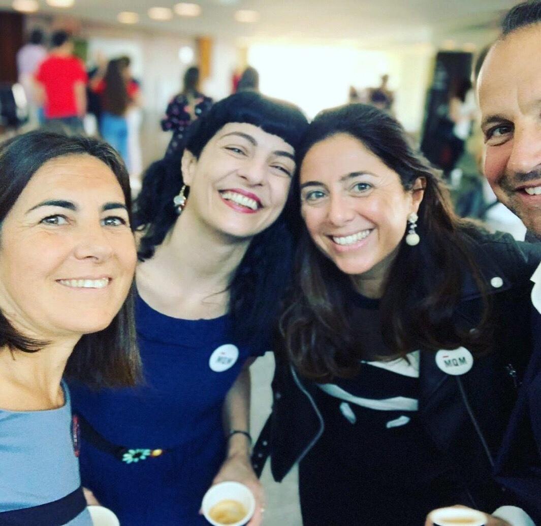 Maria Jesus Almazor, Roser Amills y Belén Marrón en en Foro Mujeres que Marcan 2019