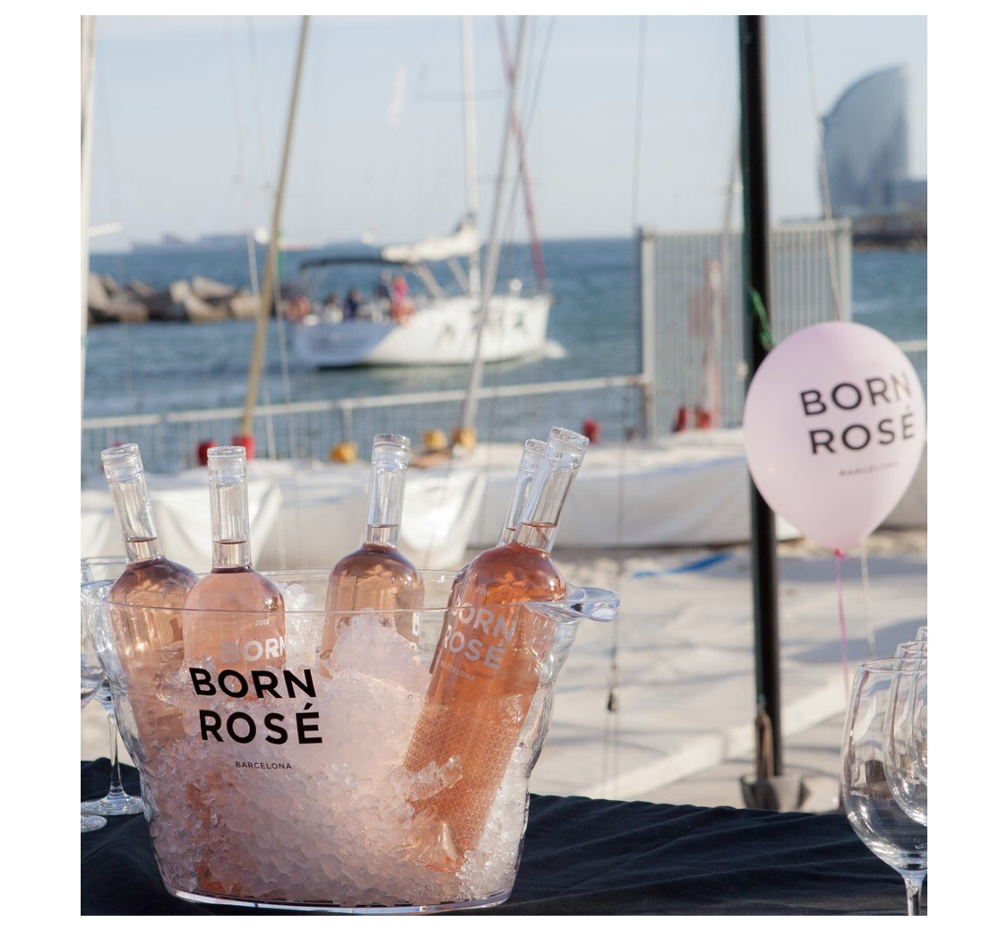 Fiesta Sunset Born Rosé en la terraza del Palace