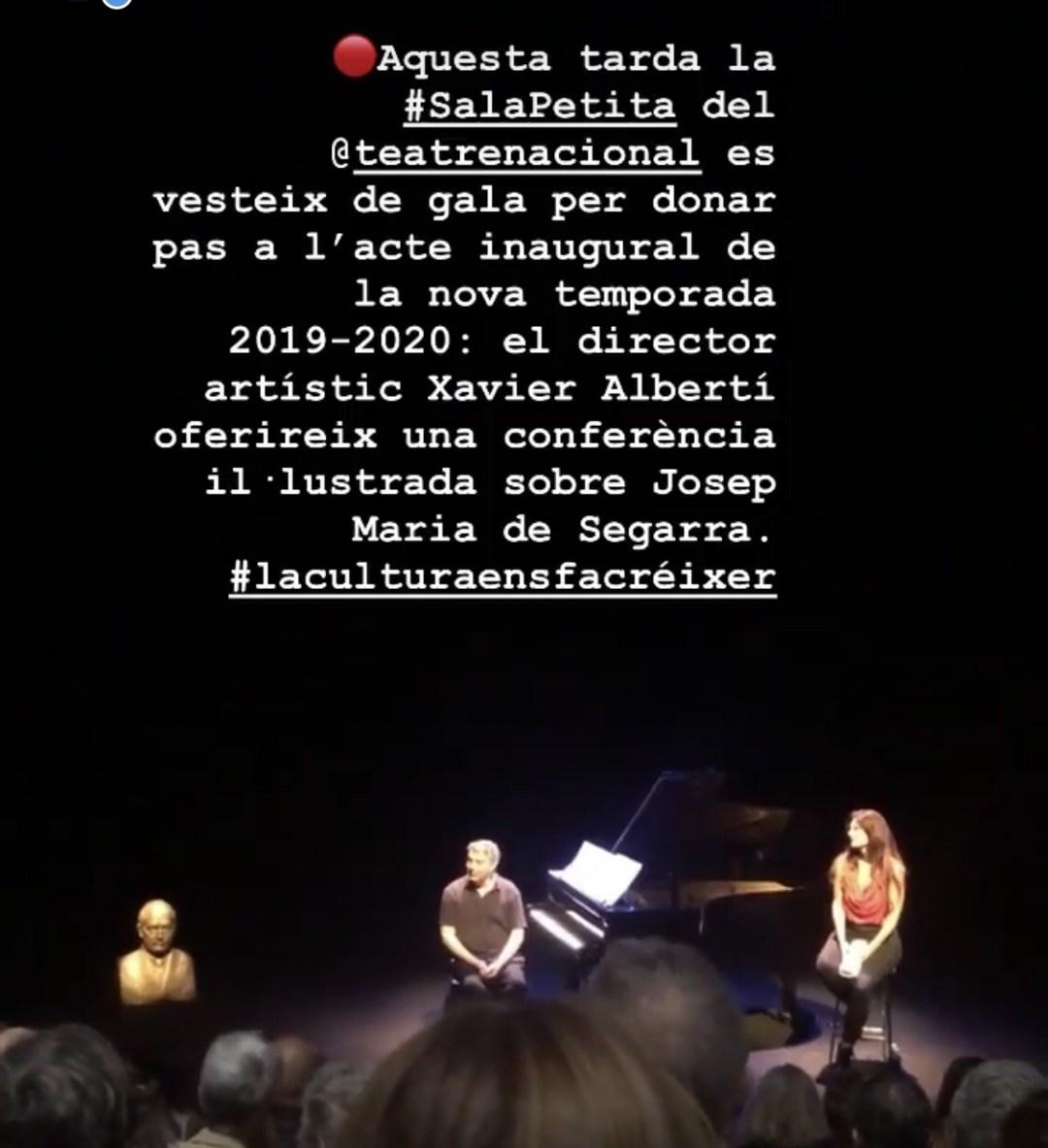 Així va ser la inauguració de la nova temporada 2019-2020 del Teatre Nacional