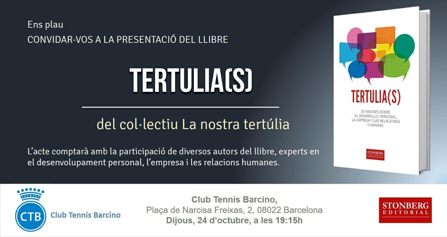 Presentación del libro Tertulia(s) en el Club Tennis Barcino
