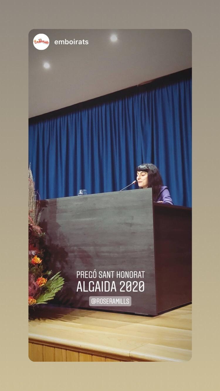 Algunes imatges del pregó de Sant Honorat 2020 que vaig fer a Algaida