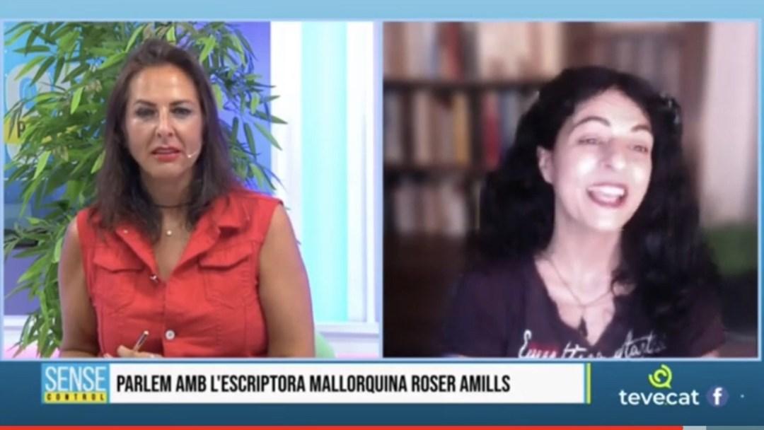 Roser Amills a TEVECAT amb Elena Batista i Nacho Encinas