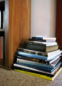 Random coffee-table type books that don't have shelf space