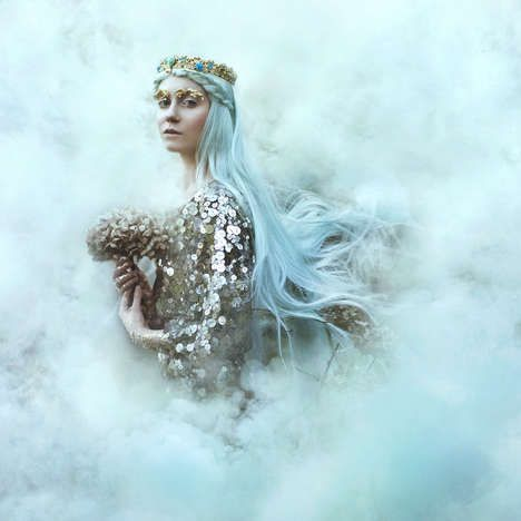 Ice Princess Bride with Pastel Blue Hair