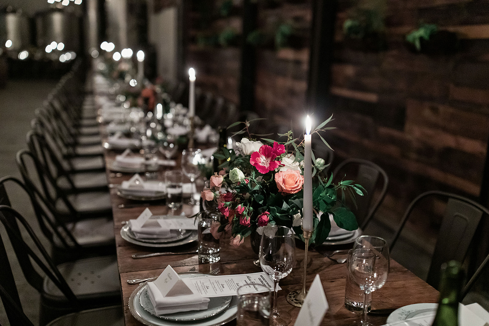 Flowers and Tapered Candles