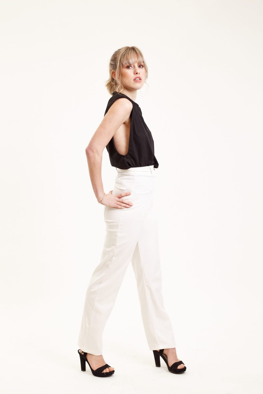 Dawn pants outfit bright white