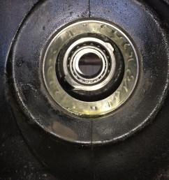 a couple things coat the inner and outer pinion bearings in gear oil and coat the inside lip of the pinion seal with vaseline before installing the pinion  [ 3264 x 2448 Pixel ]