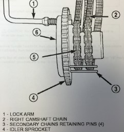 at this point align the primary chain double plated links with the timing mark at 12 o clock on the idler sprocket and align the primary chain single  [ 3024 x 4032 Pixel ]
