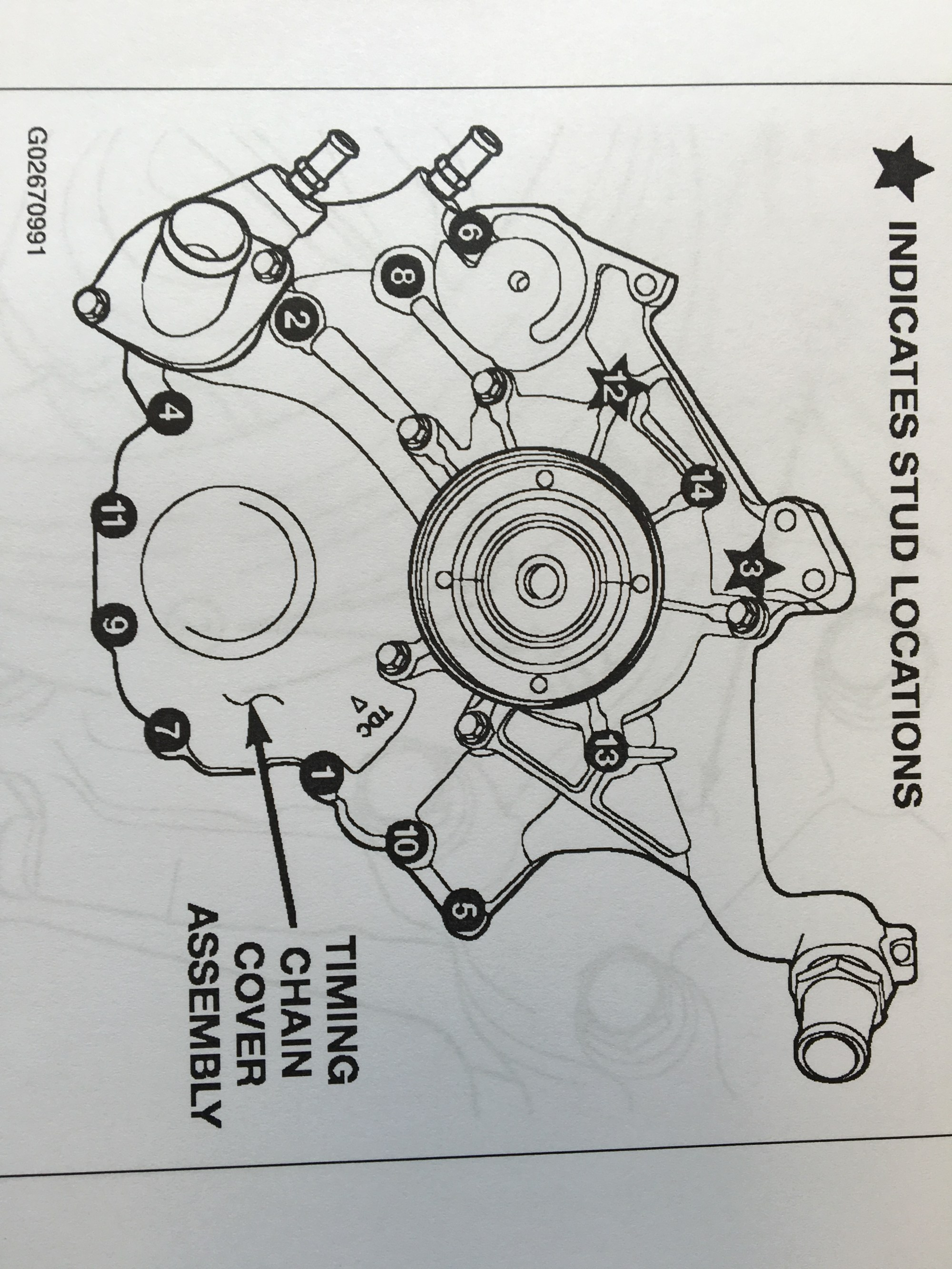 hight resolution of after removing all the timing cover bolts and studs remove any remaining gasket and or adhesive from the cover and engine block face being very careful not