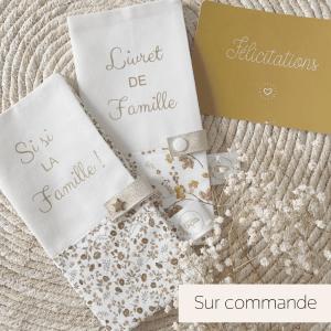protège livret de famille personnalisable made in france cadeau mariage