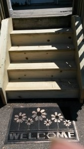 new front deck stairs