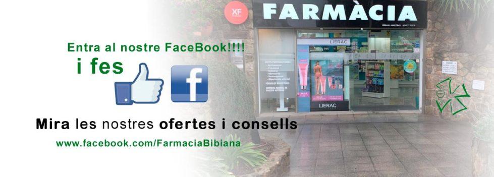 Facebook de farmàcia Bibiana