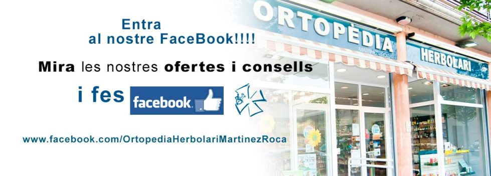 Facebook de Ortopèdia herbolari Martínez Roca