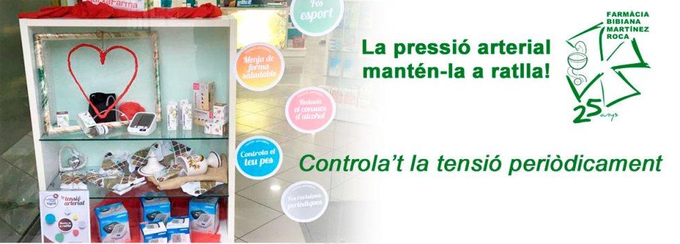 Controla't la tensió periòdicament a Farmàcia Bibiana de Roses, Girona