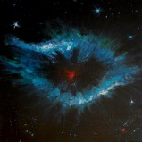 """""""As we look out from our World the Universe looks back"""" - acrylic on wood based on the Helix Nebula, a great 'Cosmic Eye' 700 light years away in Aquarius"""