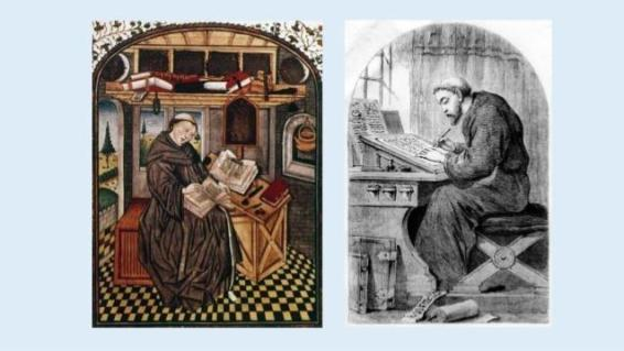Image result for monks in monasteries in middle ages