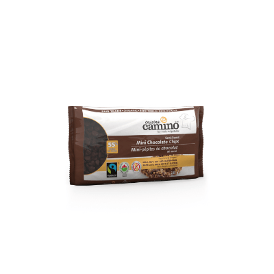Fairtrade mini chocolate chips (55% semi sweet) by Camino available on Rosette Fair Trade's online store