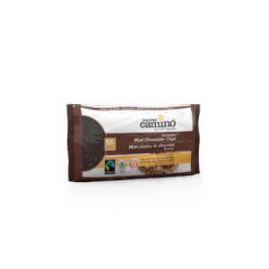 Camino mini chocolate chips (55% semi sweet) are available on Rosette Fair Trade's online store