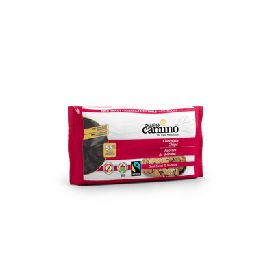 Camino semi sweet chocolate chips (55%) is available on Rosette Fair Trade's online store