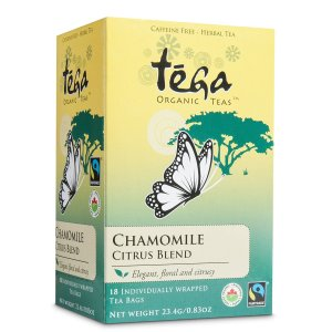 Fairtrade chamomile citrus tea by Tega Organic Tea available through Rosette Fair Trade's online store!