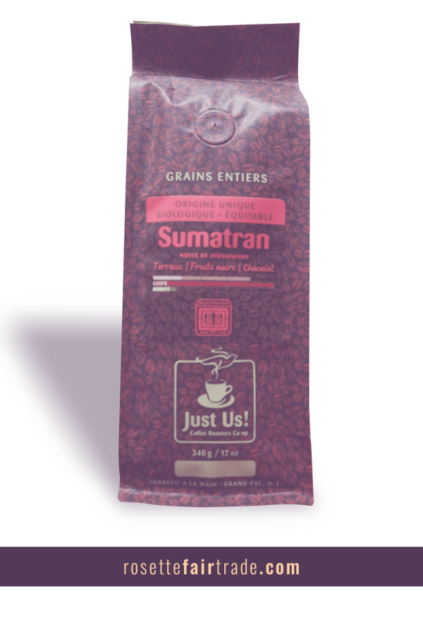 Fairtrade coffee (Sumatran) by Just Us on Rosette Fair Trade