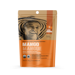 Fairtrade organic dried mango by Level Ground Trading is available on the Rosette Fair Trade online store