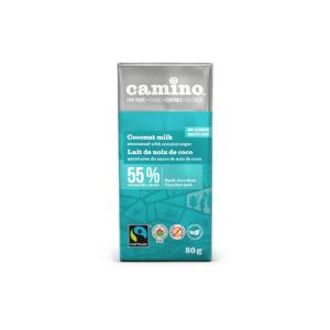 Camino coconut milk chocolate bar (80g) on Rosette Fair Trade